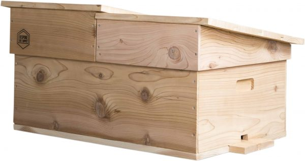 Cedar Horizontal Langstroth Hive