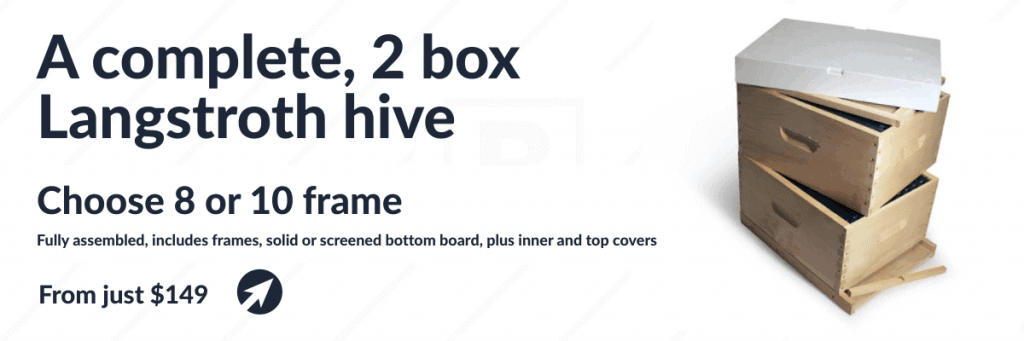 Complete 2-Box Langstroth Hive